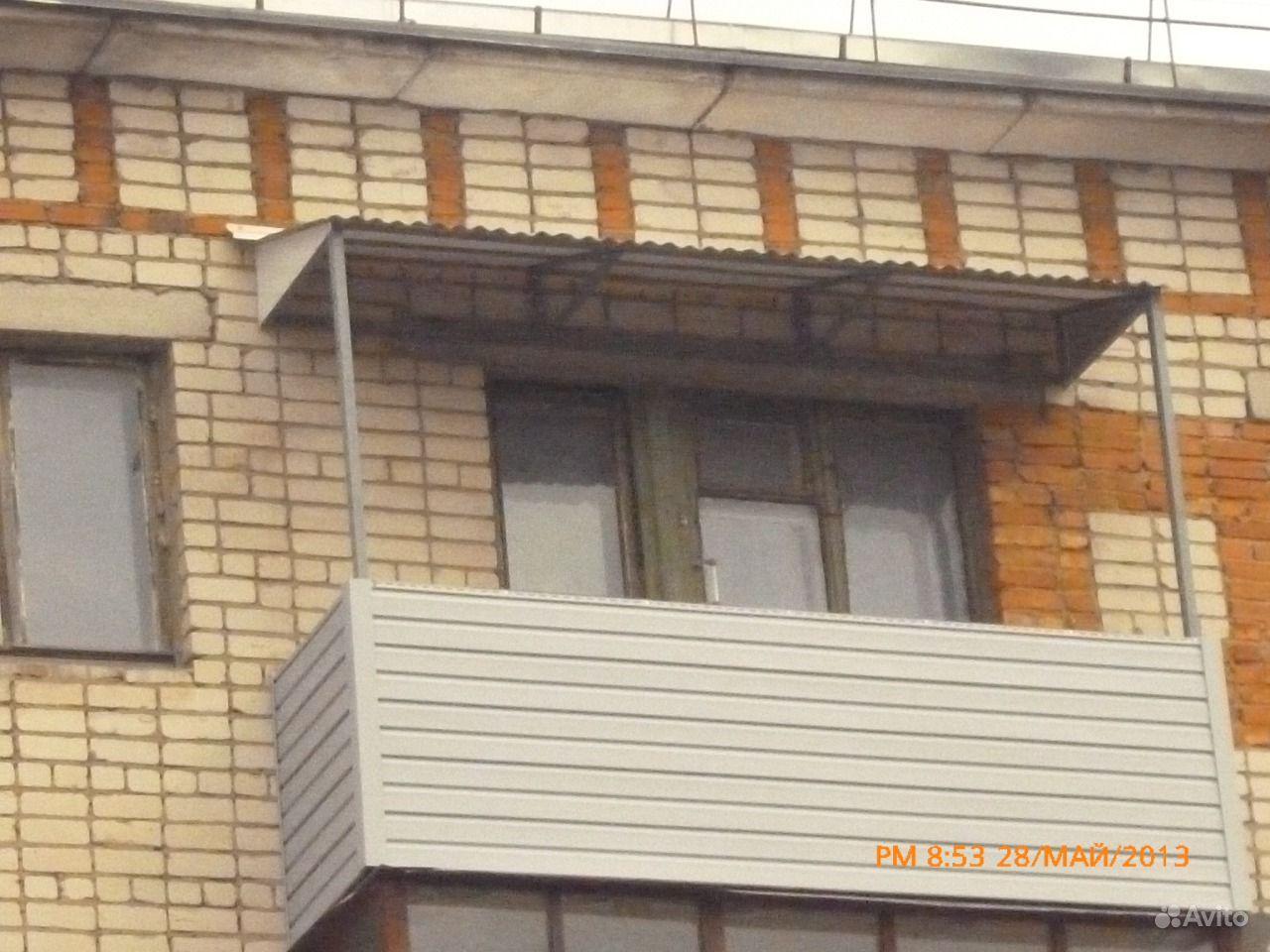 Отделка балкона без остекления..