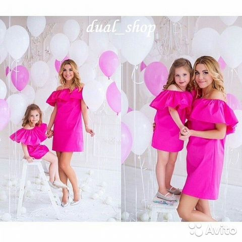 Одинаковые платья мама дочка