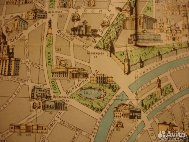 Карта-схема Москвы настенная