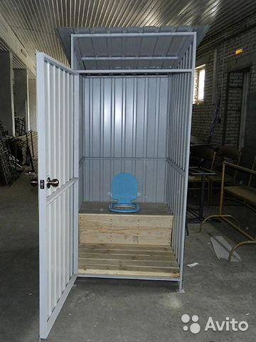 Летний душ для дачи из металла