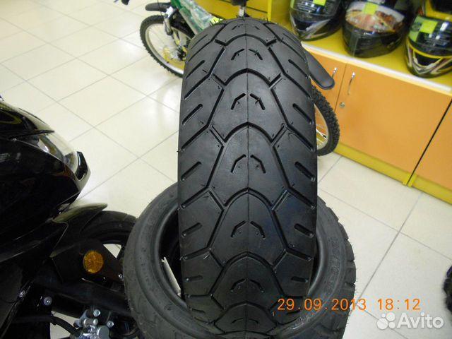 Покрышка отлично подходит для скутеров с колесами от 10 до 13 дюймов