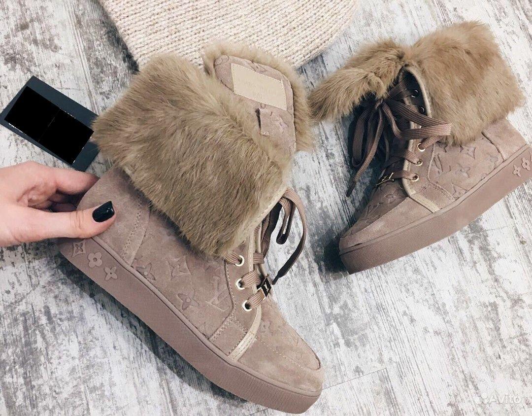 Зимние кеды ботинки LV Louis Vuitton р-р 36,38   Festima.Ru ... 0635b8153bb