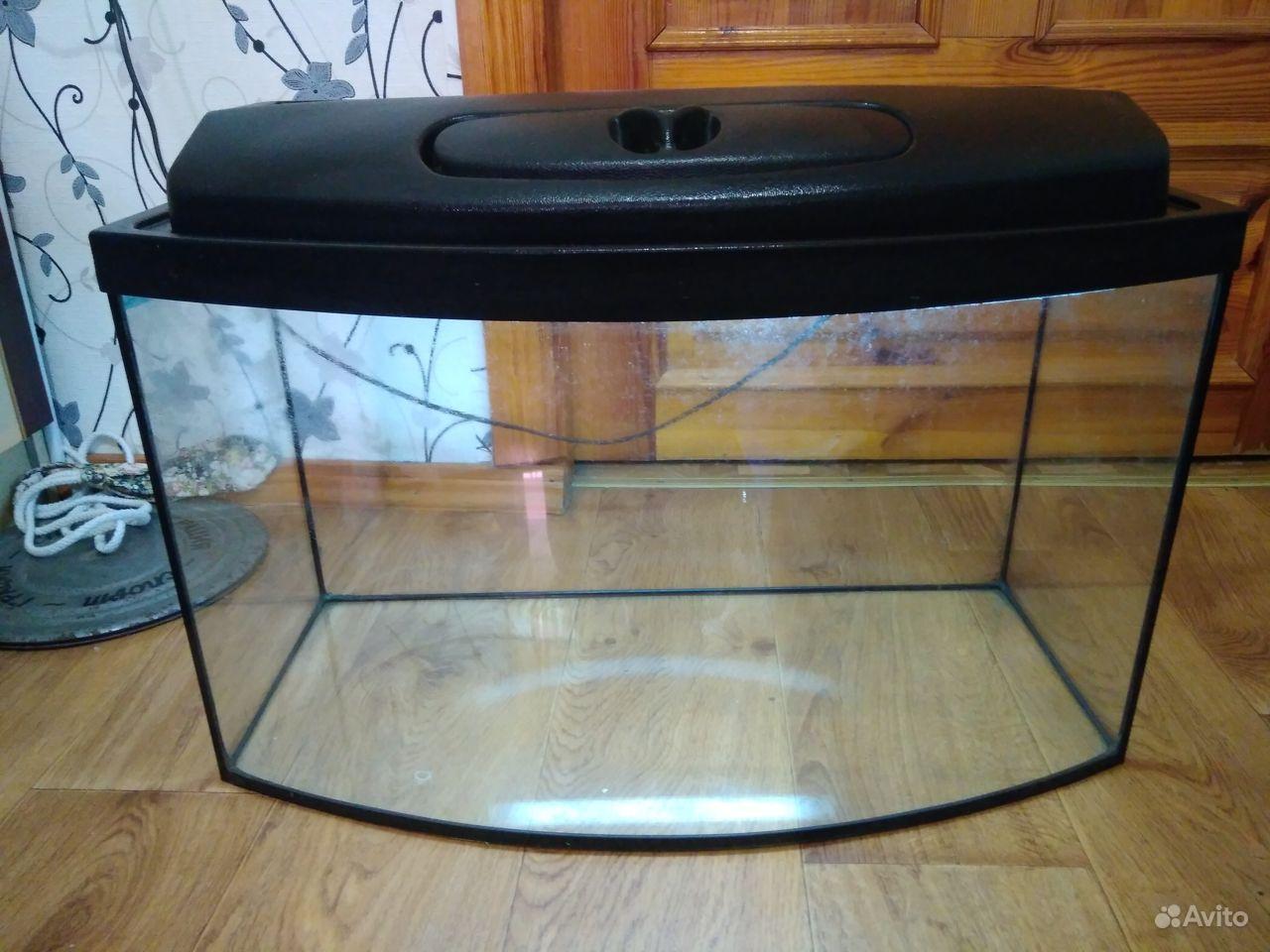 Аквариум 65 лит., фильтр, обогреватель, лампа б.у