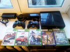 Xbox 360 + игры + 2 геймпада + Kinect