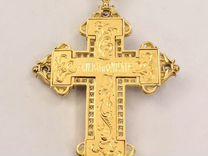 Золотой крест с бриллиантами