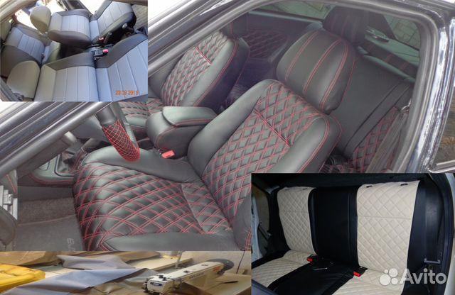 Авто чехлы на ВАЗ - 2112 из эко кожи и замша купить в ID710