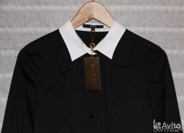 822b112b8ed140e Новая черная рубашка Gucci с запонками, оригинал купить в Москве на ...