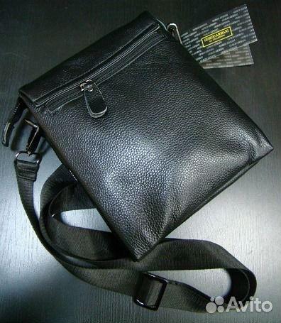 9392a2950e0c Мужская кожаная сумка Armani Large Мужские сумки купить в Москве на ...