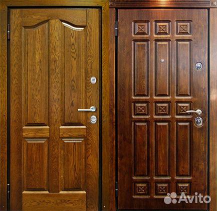 входные двери из массива дуба с порталом