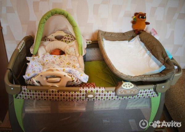 Манеж кровать graco cuddle cove цвет winslet