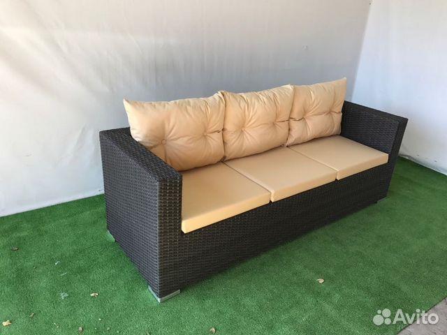 89189817122 Garden wicker sofa for veranda. art 485