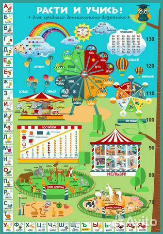 89069454870 Плакат Расти и учись (4-5 лет)