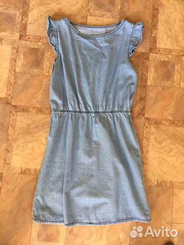 886b93ed5e2 Платье из тонкой джинсовой ткани