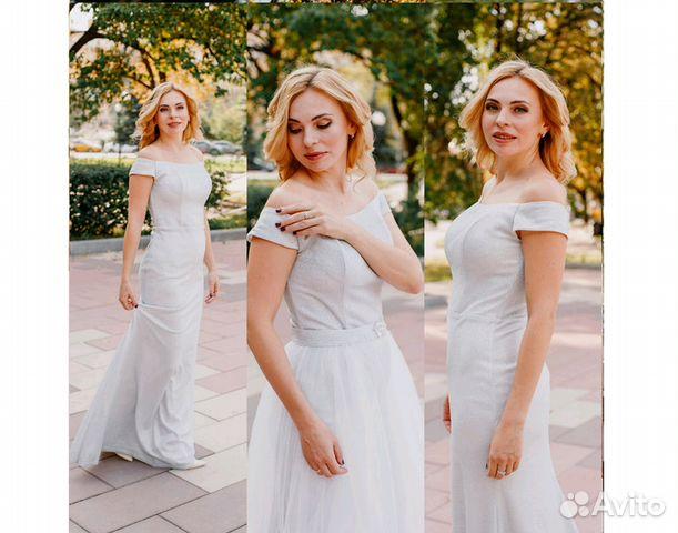 fe19bfe0149 Платье на выпускной серебряного цвета купить в Москве на Avito ...