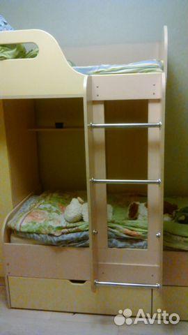 детская мебель двухъярусная кровать комод шкаф купить в
