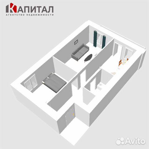 2-к квартира, 51 м², 6/10 эт. 89132494661 купить 2
