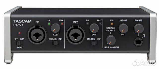 Аудиоинтерфейс Tascam US-2x2 купить 2