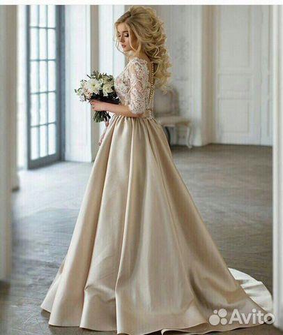 b81c4b8bd57 Атласное свадебное платье купить в Москве на Avito — Объявления на ...