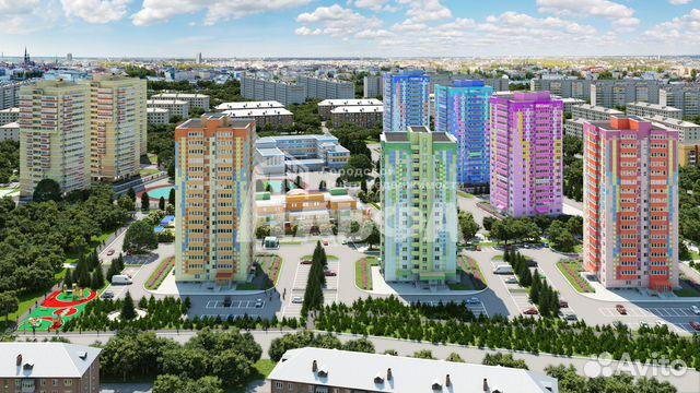 Продается двухкомнатная квартира за 3 850 000 рублей. г Пермь, ул Кронштадтская, д 37.