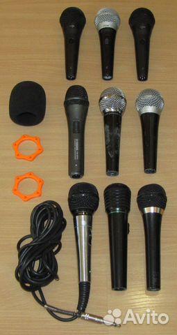 Вокальные микрофоны 9шт. Shure Yamaha Behringer купить 1