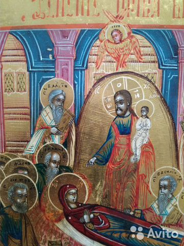 Икона старинная Успение Богородицы  купить 3