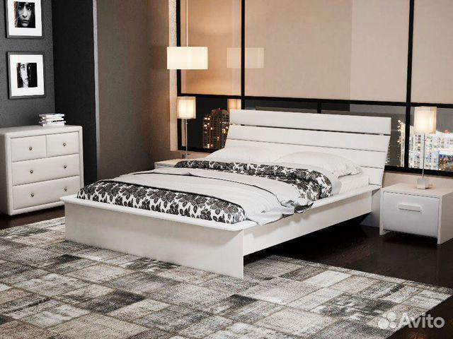 Кровать белую 140 на 200