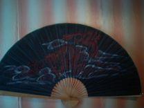 Веер для интерьера Япония дизайнерский большой