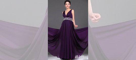420143c2969 Длинные фиолетовые вечерние платья для свадьбы купить в Москве на Avito —  Объявления на сайте Авито
