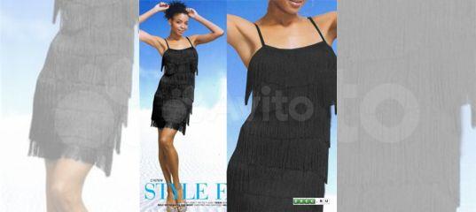 27a0a9f222e Черное платье в стиле 60х с бахромой ретро Гетсби купить в Москве на Avito  — Объявления на сайте Авито
