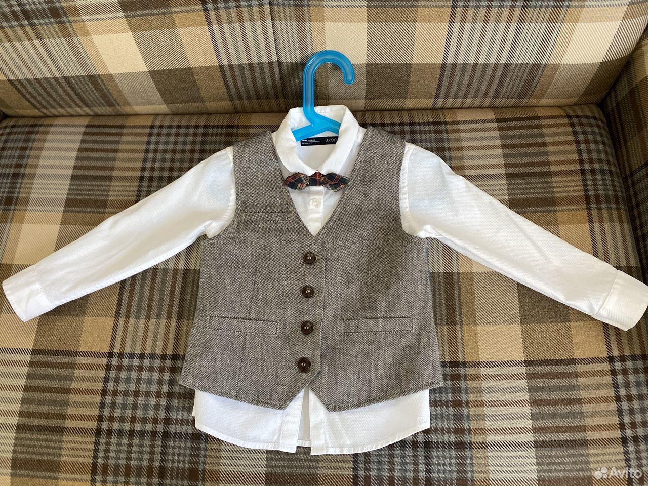 Комплект Next (рубашка, галстук- бабочка, жилет)  89788257655 купить 1