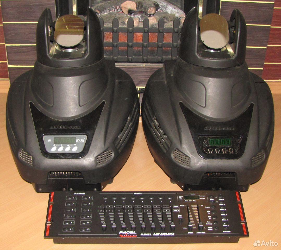 Pro светомузыка головы MOS300 2шт пульт DMX Proel  89128899109 купить 1