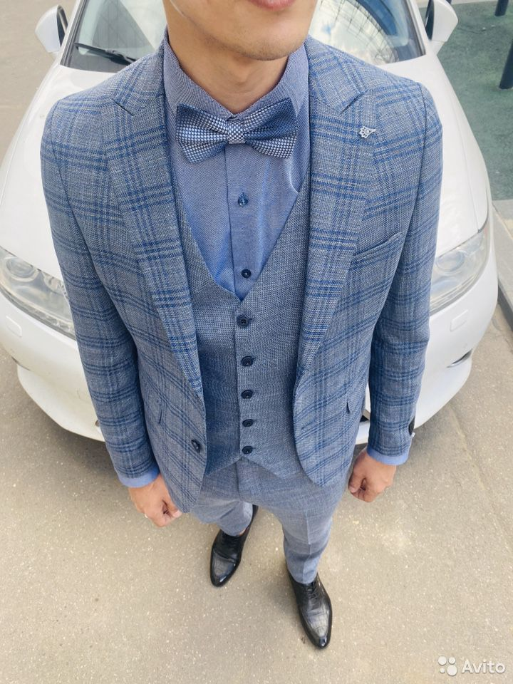 Серо синий костюм  89999758742 купить 3