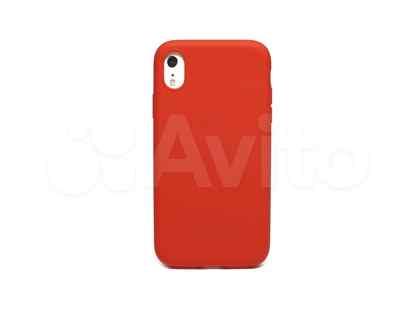 Чехол-накладка для iPhone XR latex красный