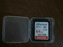 Карта памяти SanDisk sdxc 64GB 80MB/s