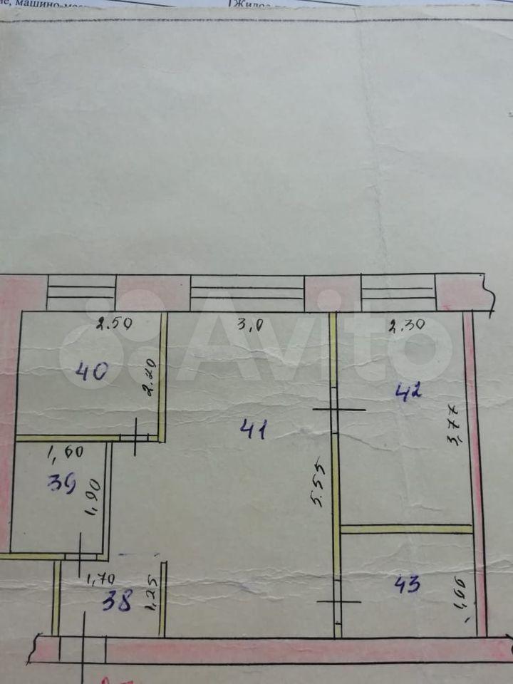 2-room apartment, 42 m2, 1/5 floor  89609470294 buy 1