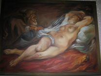 Картина Спящая дама — Мебель и интерьер в Москве