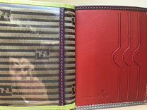 Кожаный кошелёк-портмоне fendi