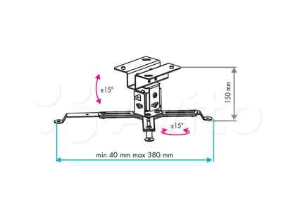 Кронштейн для проекторов потолочный VLK trento-81
