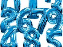 Фольгированные цифры шары