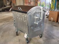 Оцинкованный контейнер для мусора 1100 л