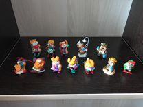 Игрушки киндер-сюрприз 90-х. Бегемоты, зайцы, мишк