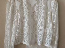 Блуза Zara белая L — Одежда, обувь, аксессуары в Геленджике