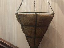Кашпо уличное из кокосового волокна