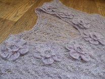Новый (пуховый) ажурный жилет (46-48)