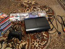 Playstation3 super slim + 16 игр