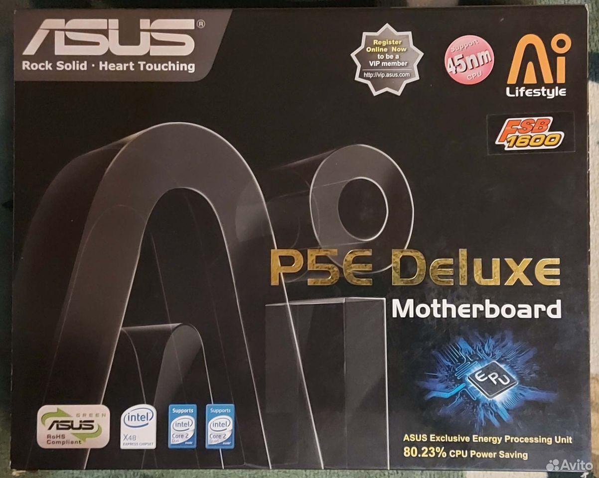 Asus P5E Deluxe Socket LGA775 Полный комплект  89101652659 купить 1